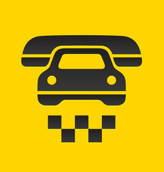 taxi cab sign vector image