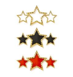 Three gold stars vector