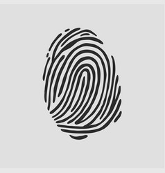 Thumb print fingerprint vector