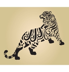 Tiger ornament decoration 2 vector image vector image
