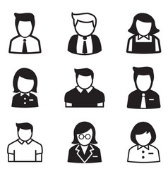 useraccount staff employee maid icons vector image vector image
