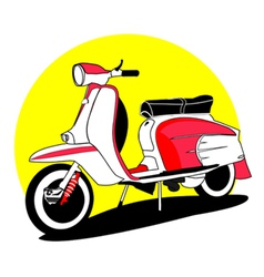 vintage scooters vector image vector image