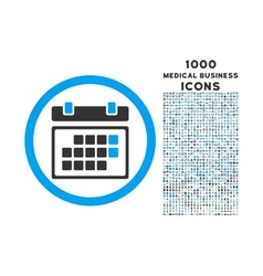 Month calendar rounded icon with 1000 bonus icons vector