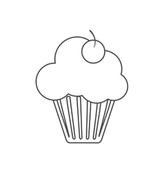 Isolated cupcake with cherry design vector