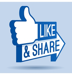 Like and Share Thumbs Up vector image