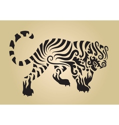 Tiger ornament decoration 3 vector