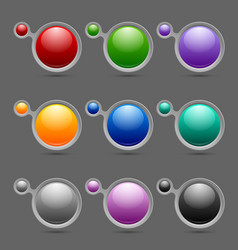 Button or icon template bubbles vector