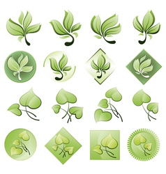 Set of logos from the leaves vector