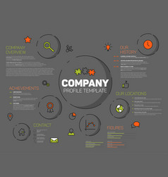 company infographic profile design template vector image