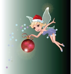 Santa Fairy vector image