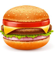 Hamburger isolated on white vector