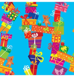 Seamless pattern with colorful gift boxes presents vector image
