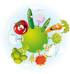 Vegetable planet vector