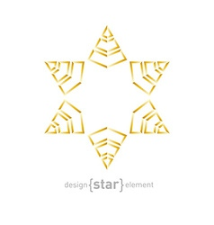 Golden star on white background vector