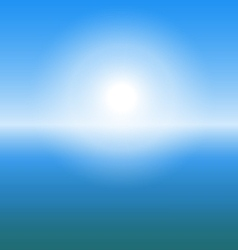 Abstract sunrise over the sea with copy space vector