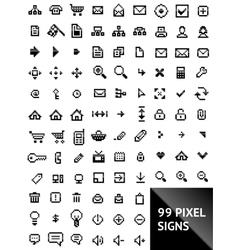 Pixel web icons vector