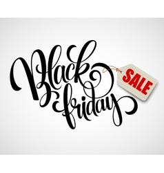 Black friday sale calligraphic design vector