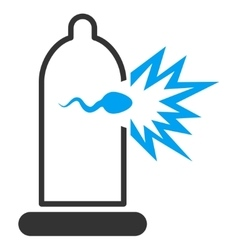 Sperm escape icon vector