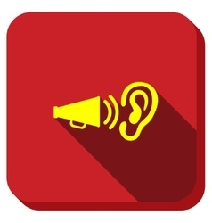 Audio advertisement longshadow icon vector
