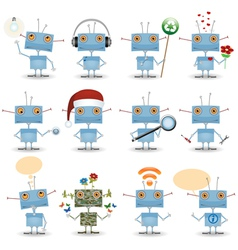 Funny cartoon robot vector