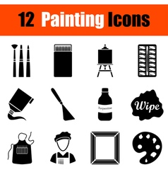 Set of painting icons vector