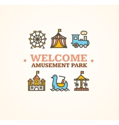 Amusement park embleme vector
