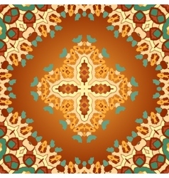 Brown and orange color seamles arabian print vector