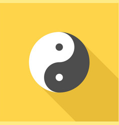 Chinese philosophy yin and yang sign icon vector