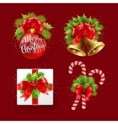 Christmas sign set vector
