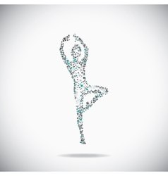 Dancer on the gray backdrop vector image