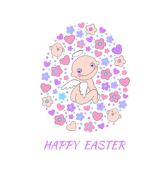 Easter concept card vector image vector image