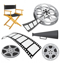 Film objects vector