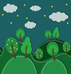 Forest At Night seamless vector image vector image