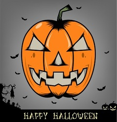Halloween pumpkin head vector image vector image