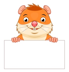 Hamster banner vector image vector image