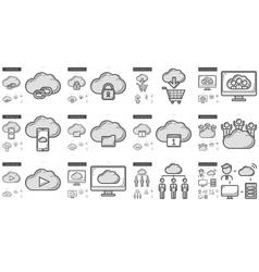 Hi-Tech line icon set vector image vector image