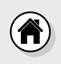 Home silhouette flat black vector