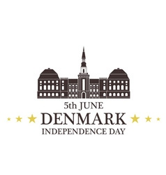 Independence day denmark vector