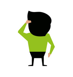 man cartoon backside icon image vector image