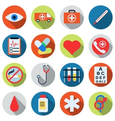 Medical flat design icons vector image vector image