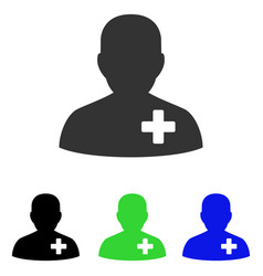 Medical volunteer flat icon vector