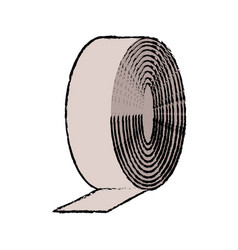 Medicine tape bandage roll aid equipment vector