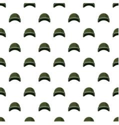 Military helmet pattern vector