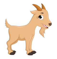 of cartoon goat vector image