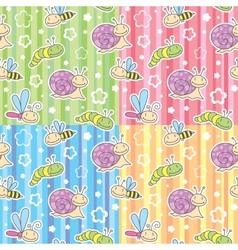patterns with insects vector image