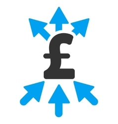 Pound payment broker flat icon symbol vector