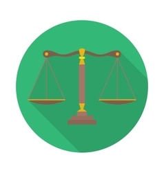 Scales of justice sign law balance symbol vector