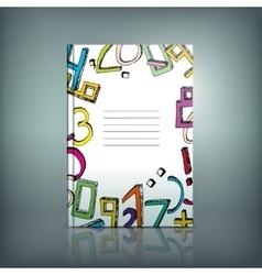 School Test Book 02 B vector image