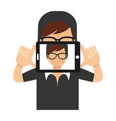 selfie concept vector image vector image