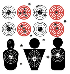 Set of different bullet holes vector